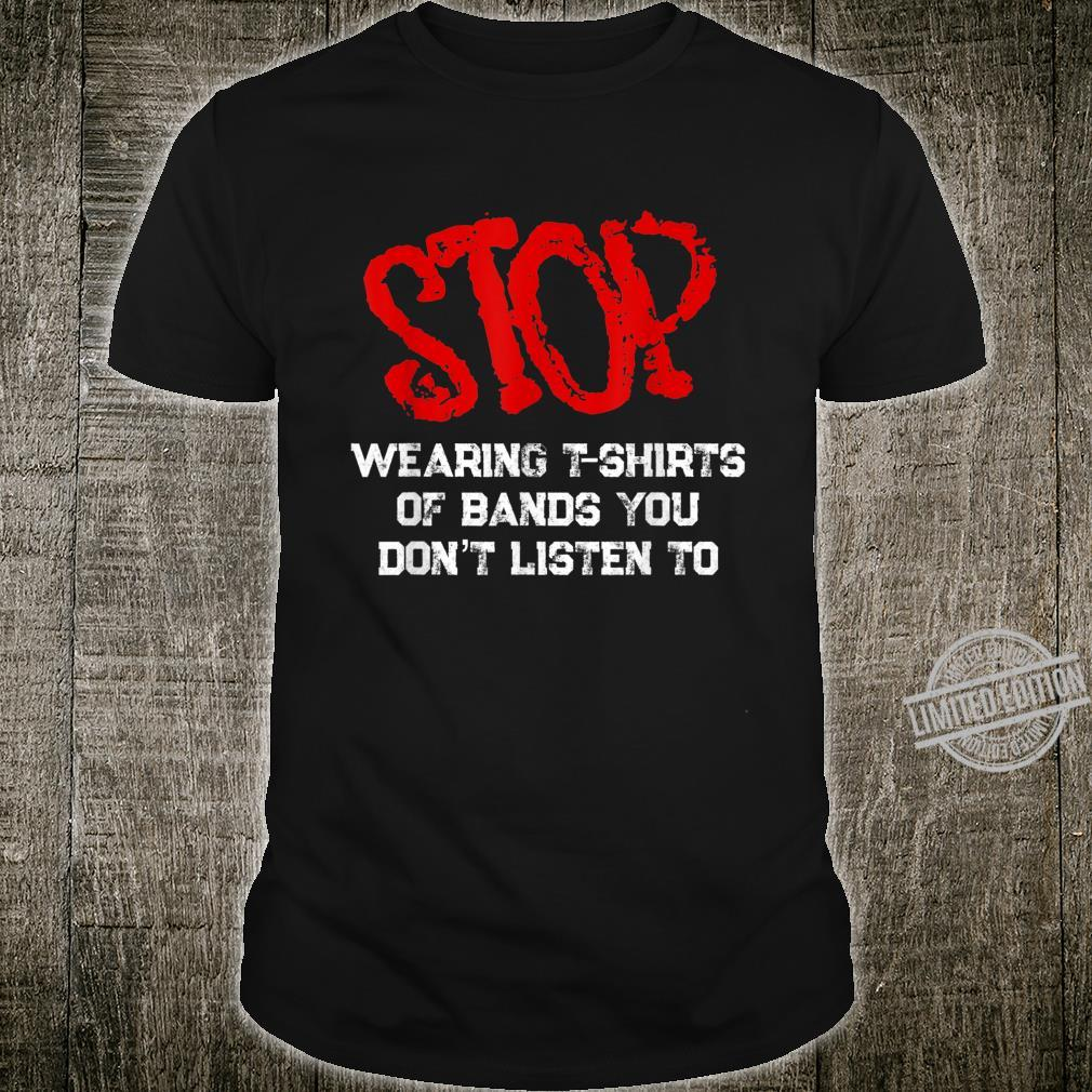 Funny RockStar Musician Band Fan Shirt