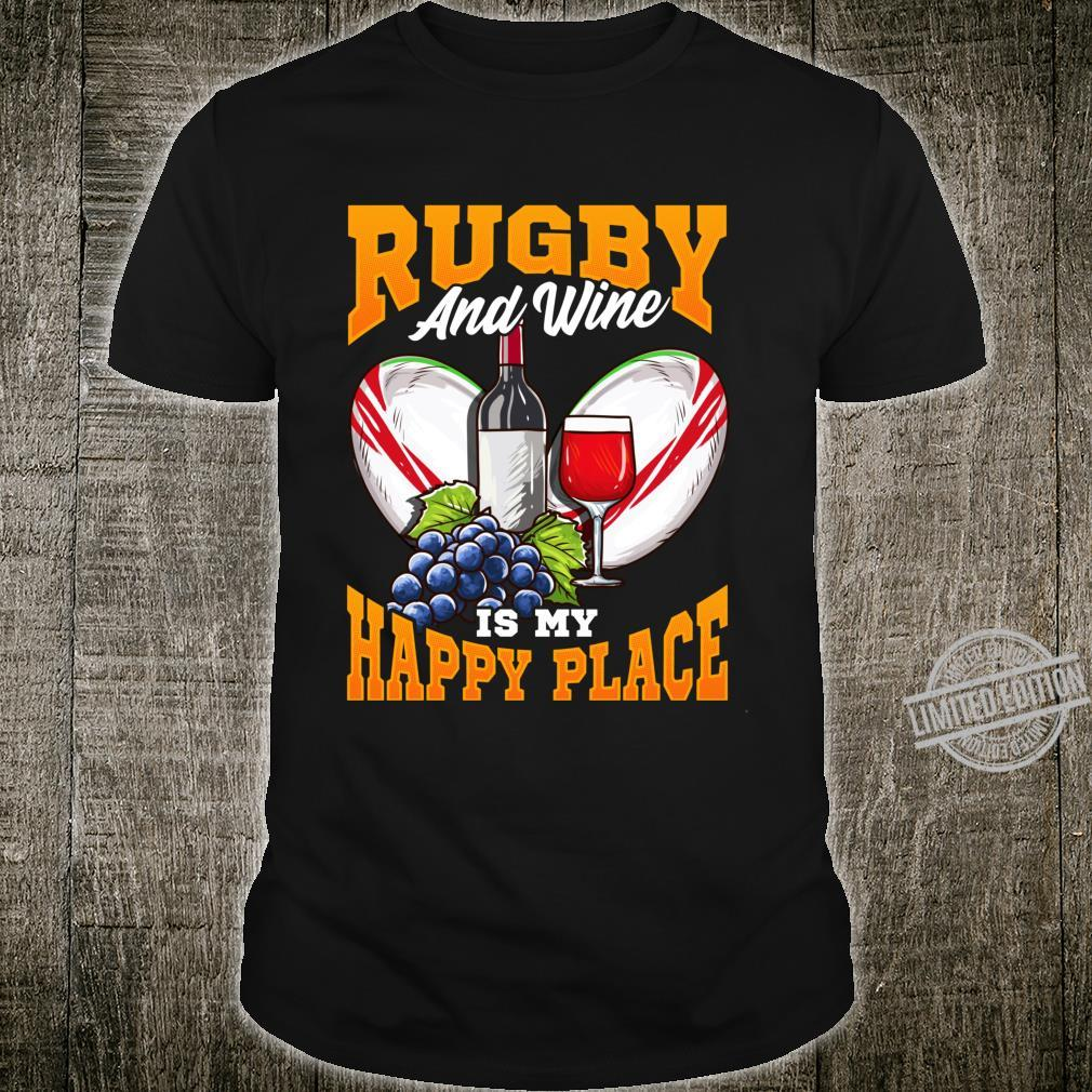 Funny Rugby Wine Fans with Sayings Quotes Shirt