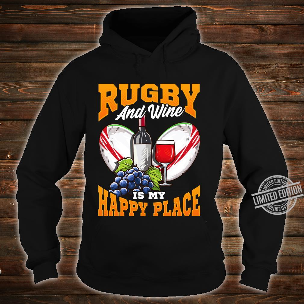 Funny Rugby Wine Fans with Sayings Quotes Shirt hoodie