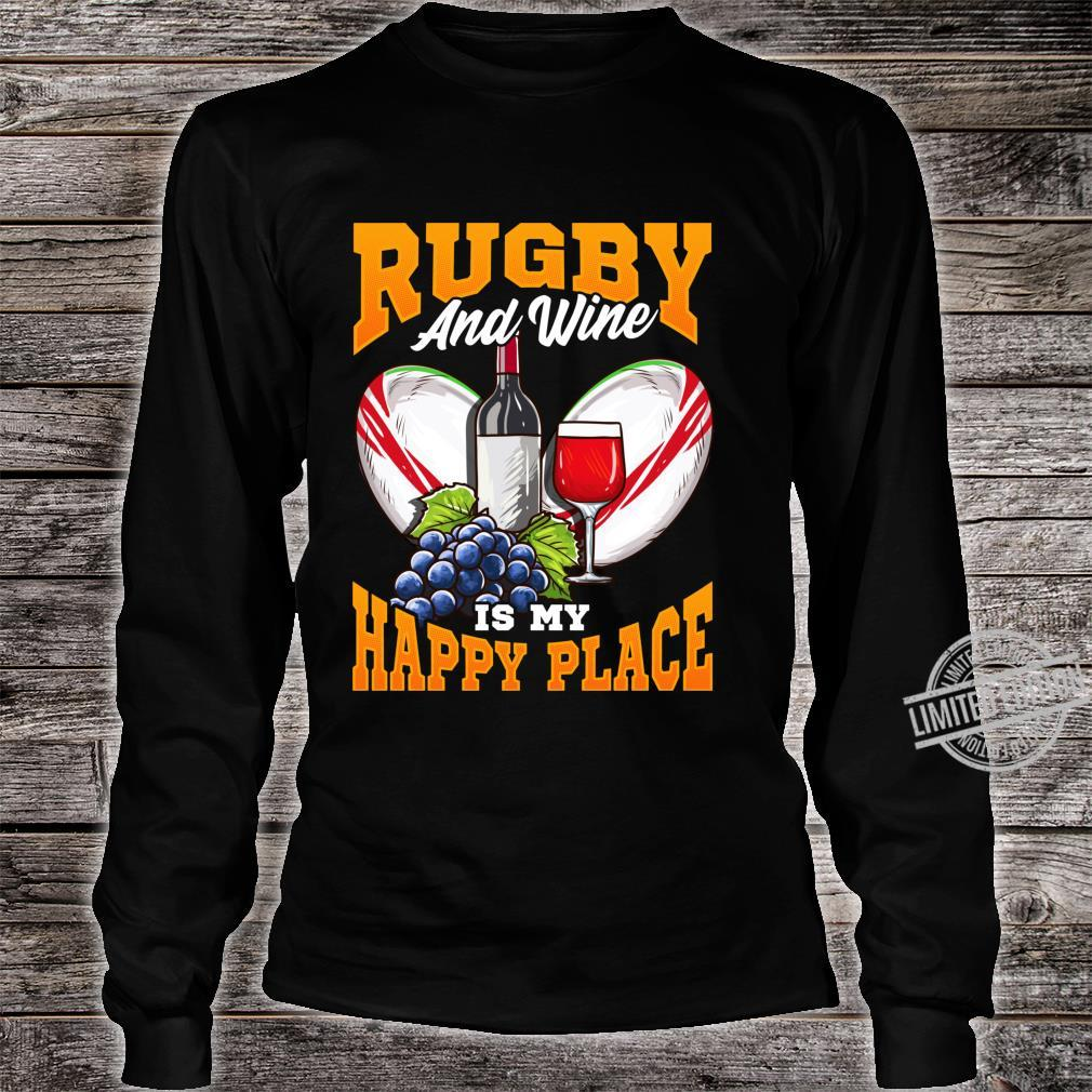 Funny Rugby Wine Fans with Sayings Quotes Shirt long sleeved