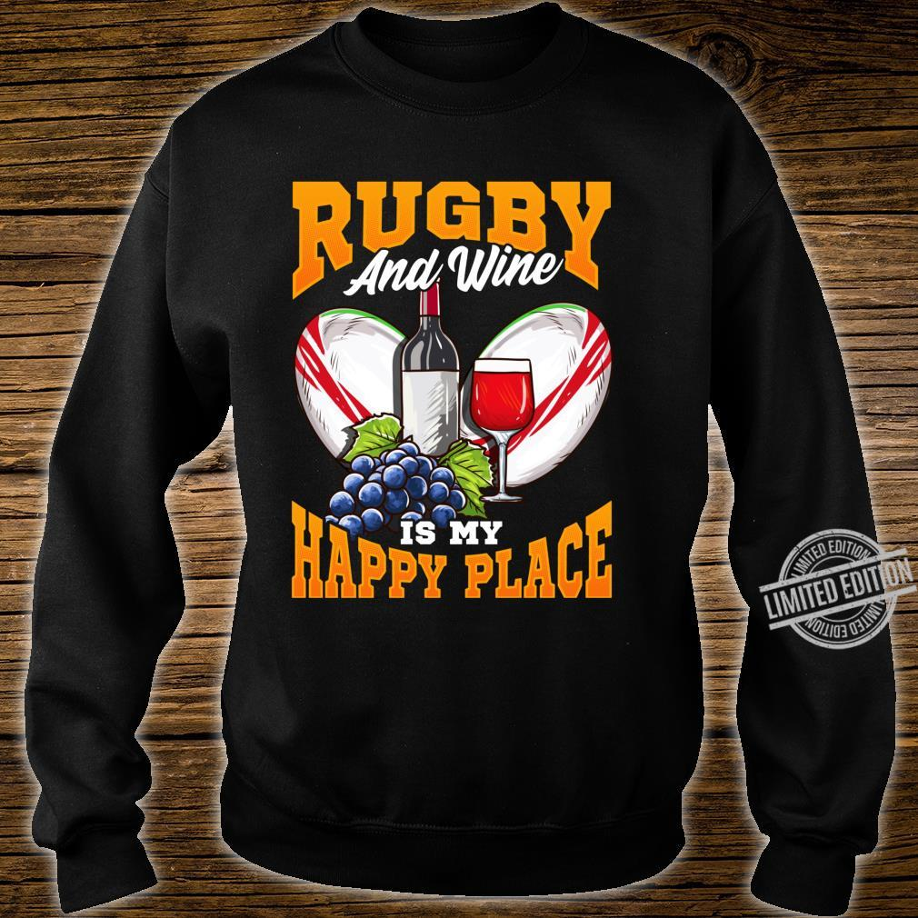 Funny Rugby Wine Fans with Sayings Quotes Shirt sweater