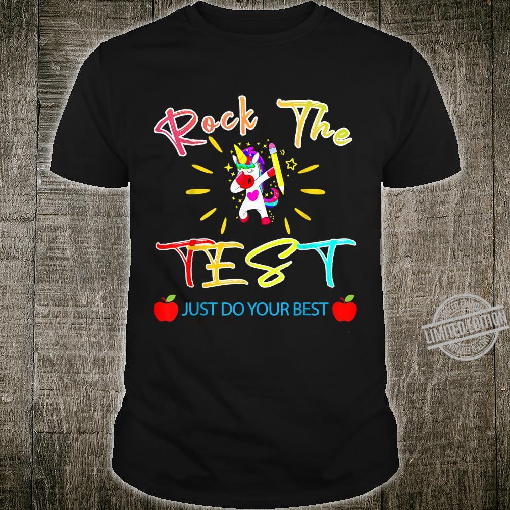 Funny Testing Teacher Rock The Test Teaching Student Shirt
