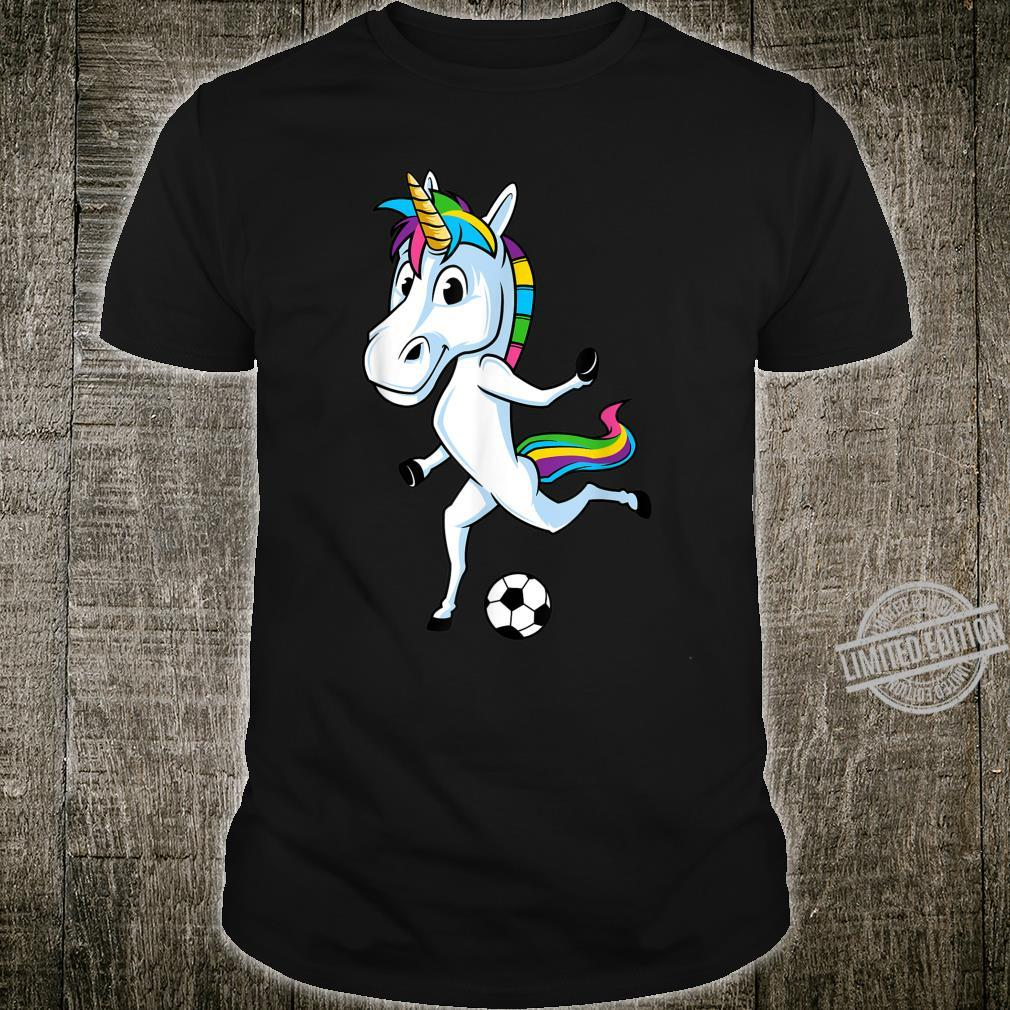 Funny Unicorn Sports Soccer Playing Football Magical Player Shirt
