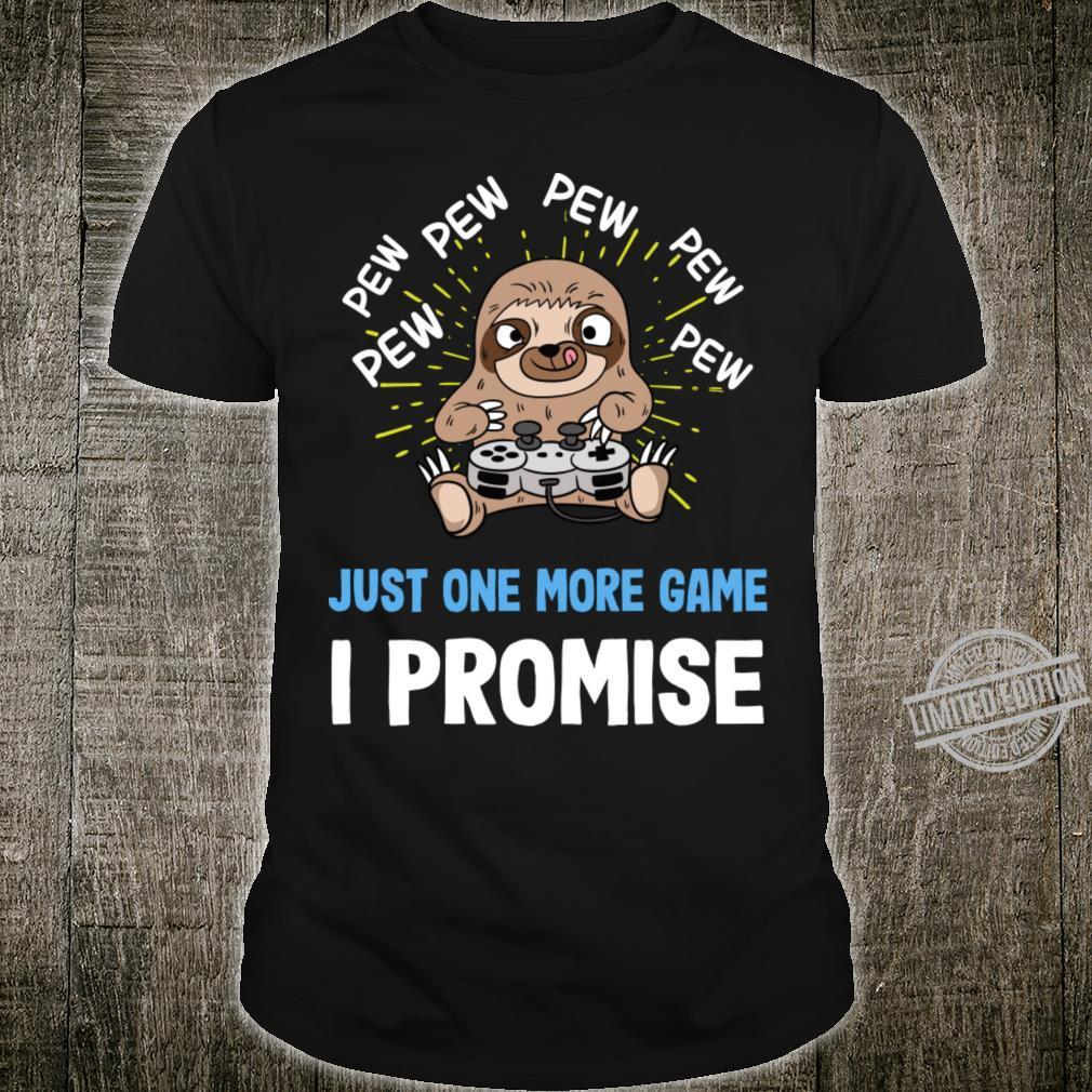 Gamer Sloth Gaming Shirt