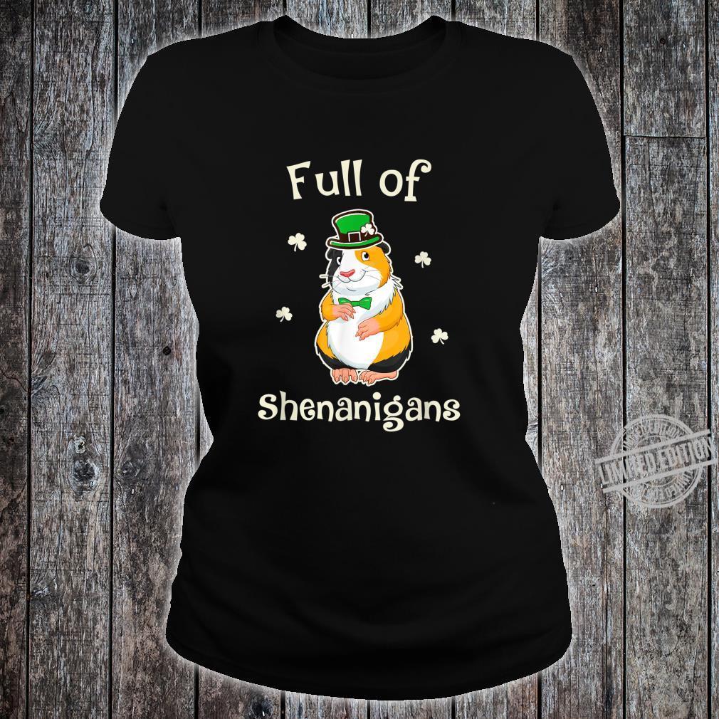 GuineaPig Full Of Shenanigans Irish Family Patricks Shirt ladies tee