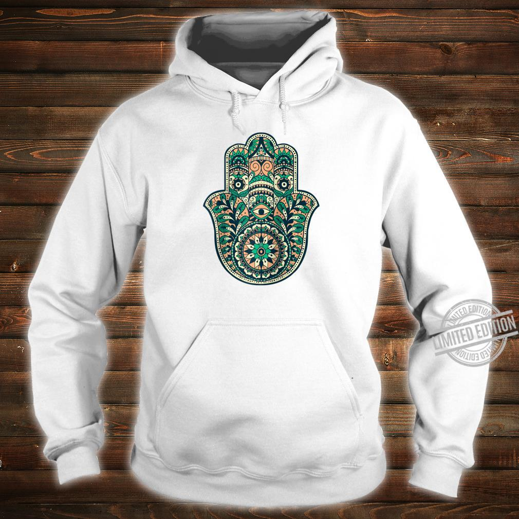 Hamsa Hand Oriental Ornament Art Islamic Symbol Yoga Shirt hoodie