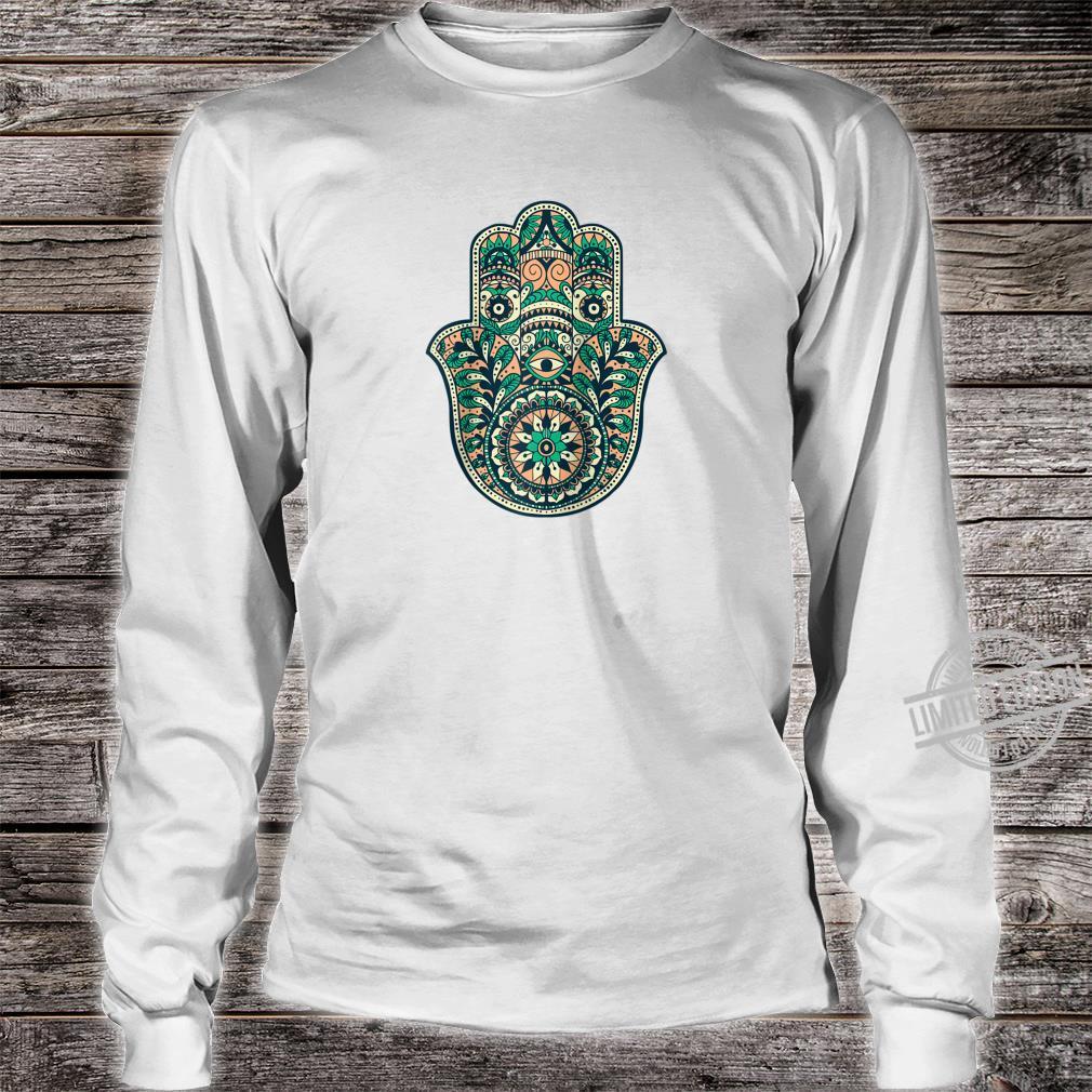 Hamsa Hand Oriental Ornament Art Islamic Symbol Yoga Shirt long sleeved