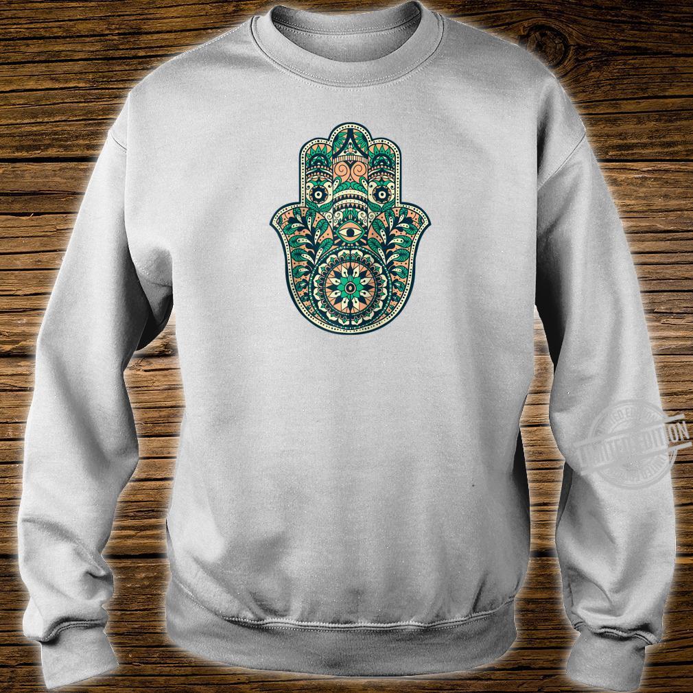 Hamsa Hand Oriental Ornament Art Islamic Symbol Yoga Shirt sweater