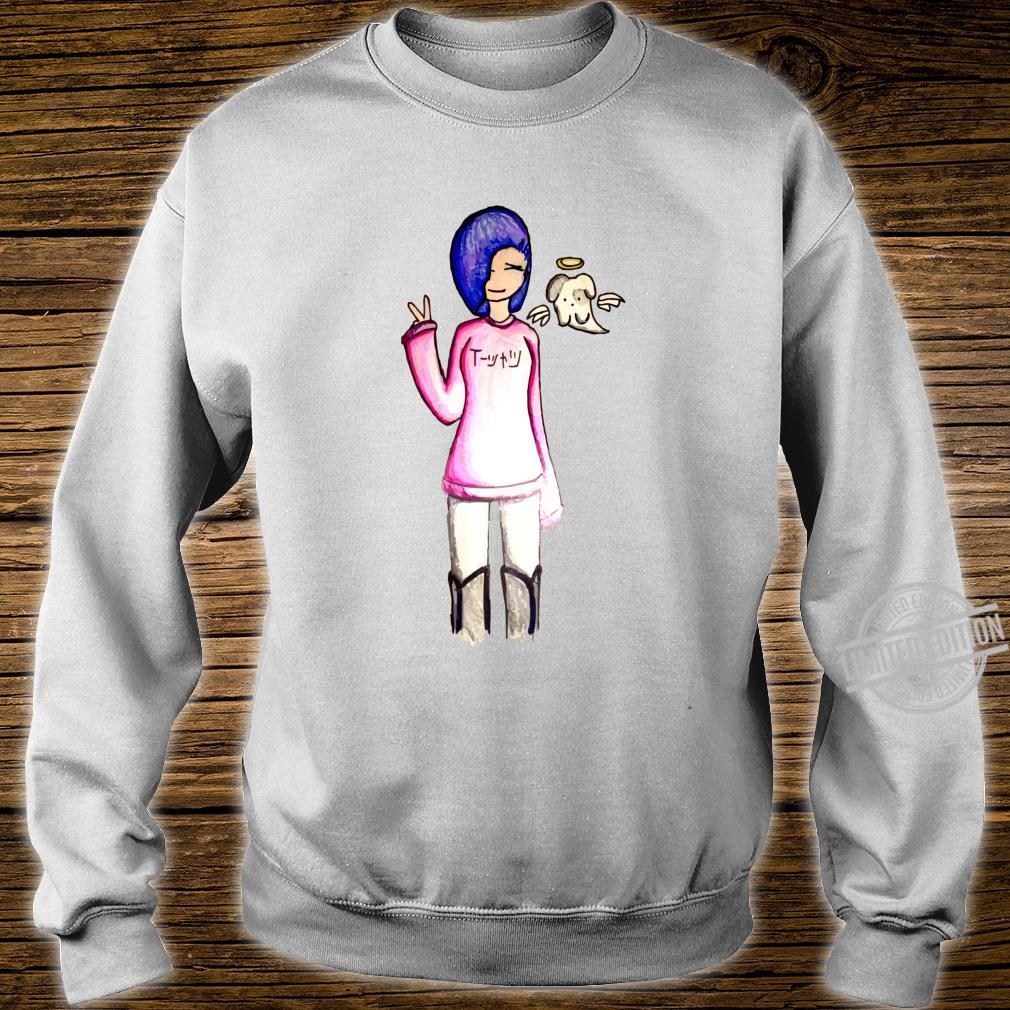 HandDrawn Anime Langarmshirt Shirt sweater