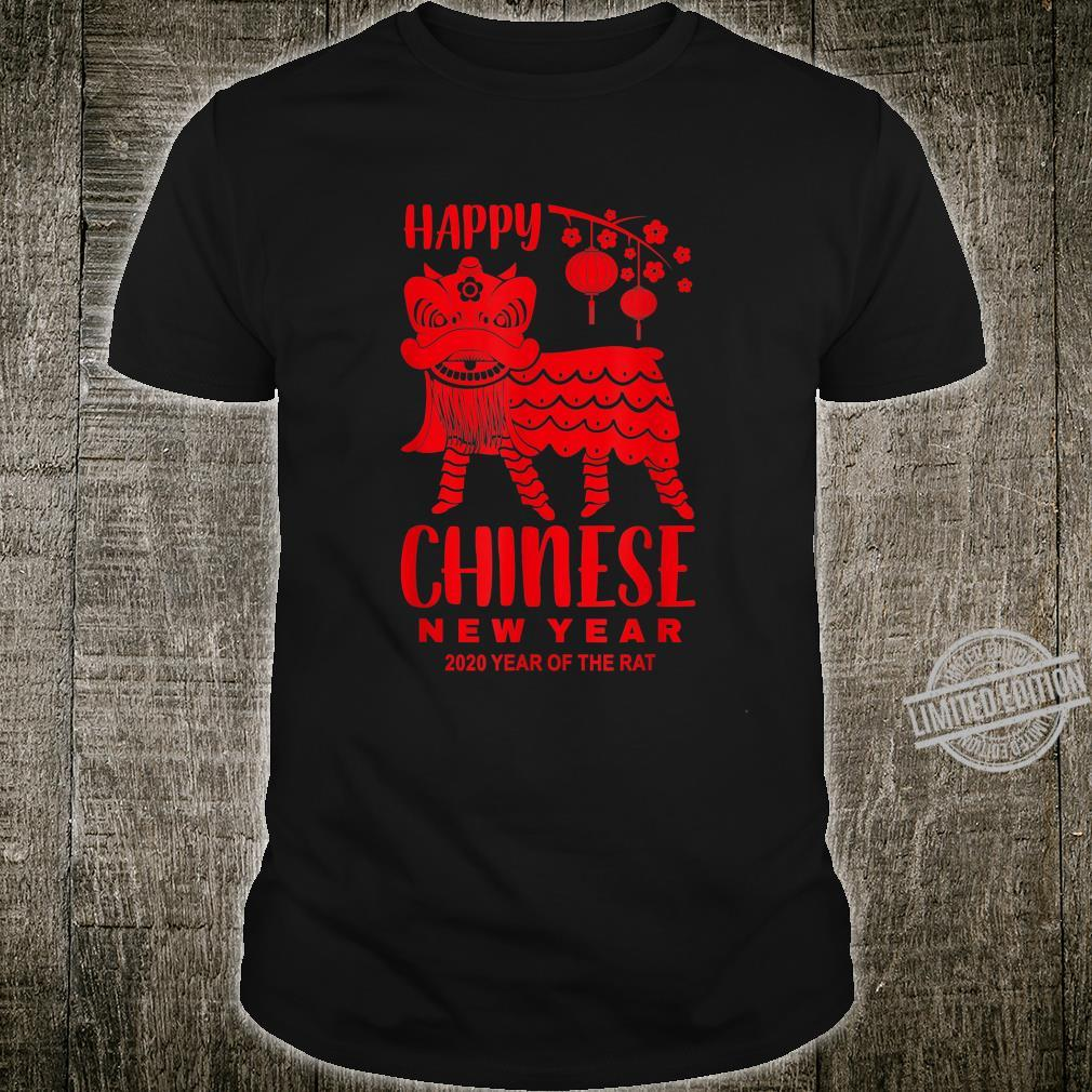 Happy Chinese New Year Lion Year Of The Rat 2020 Shirt