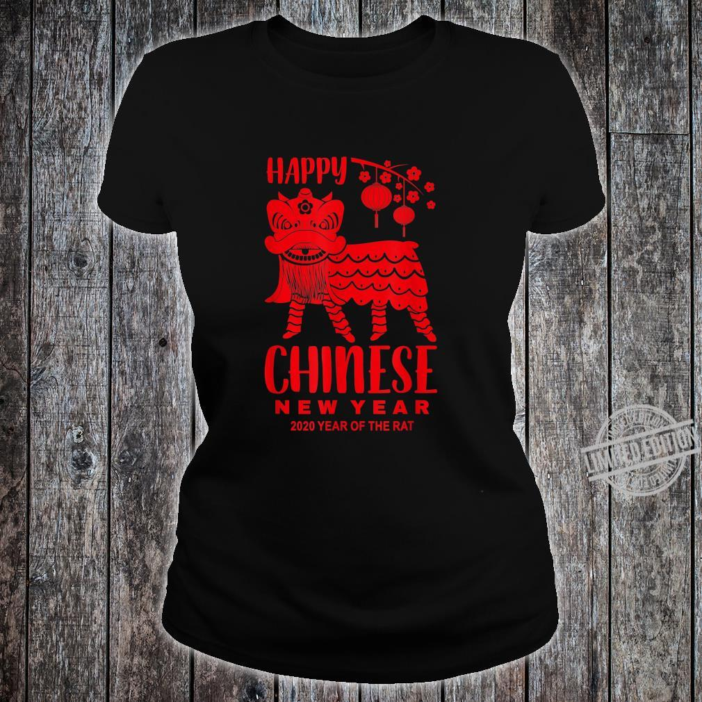 Happy Chinese New Year Lion Year Of The Rat 2020 Shirt ladies tee