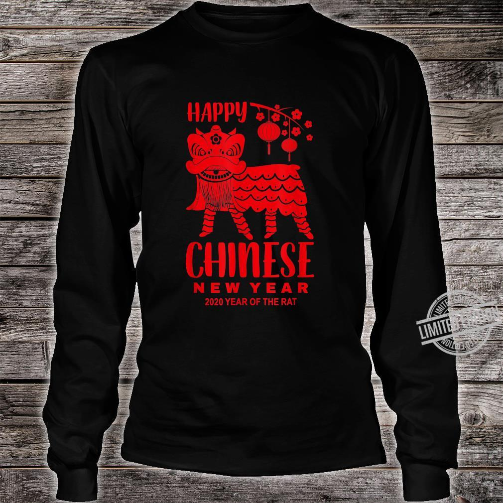 Happy Chinese New Year Lion Year Of The Rat 2020 Shirt long sleeved