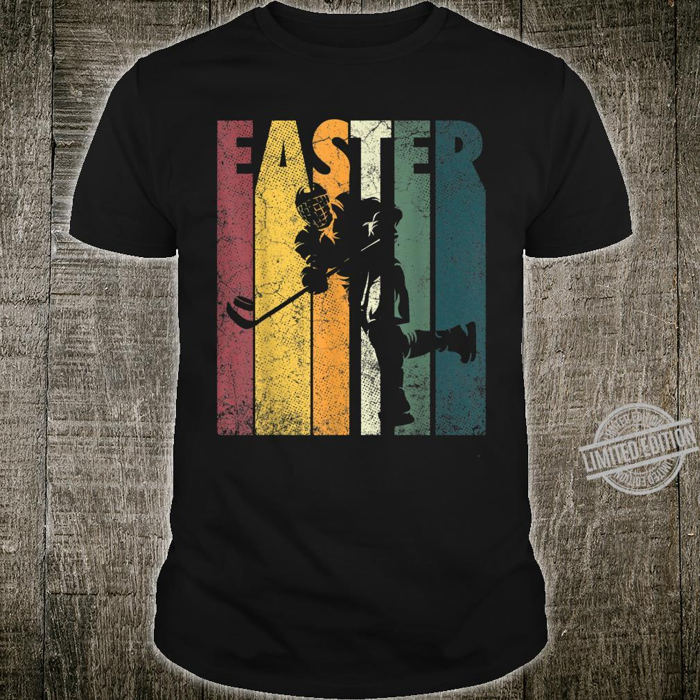 Happy Easter Ice Hockey Vintage Retro Boys Shirt