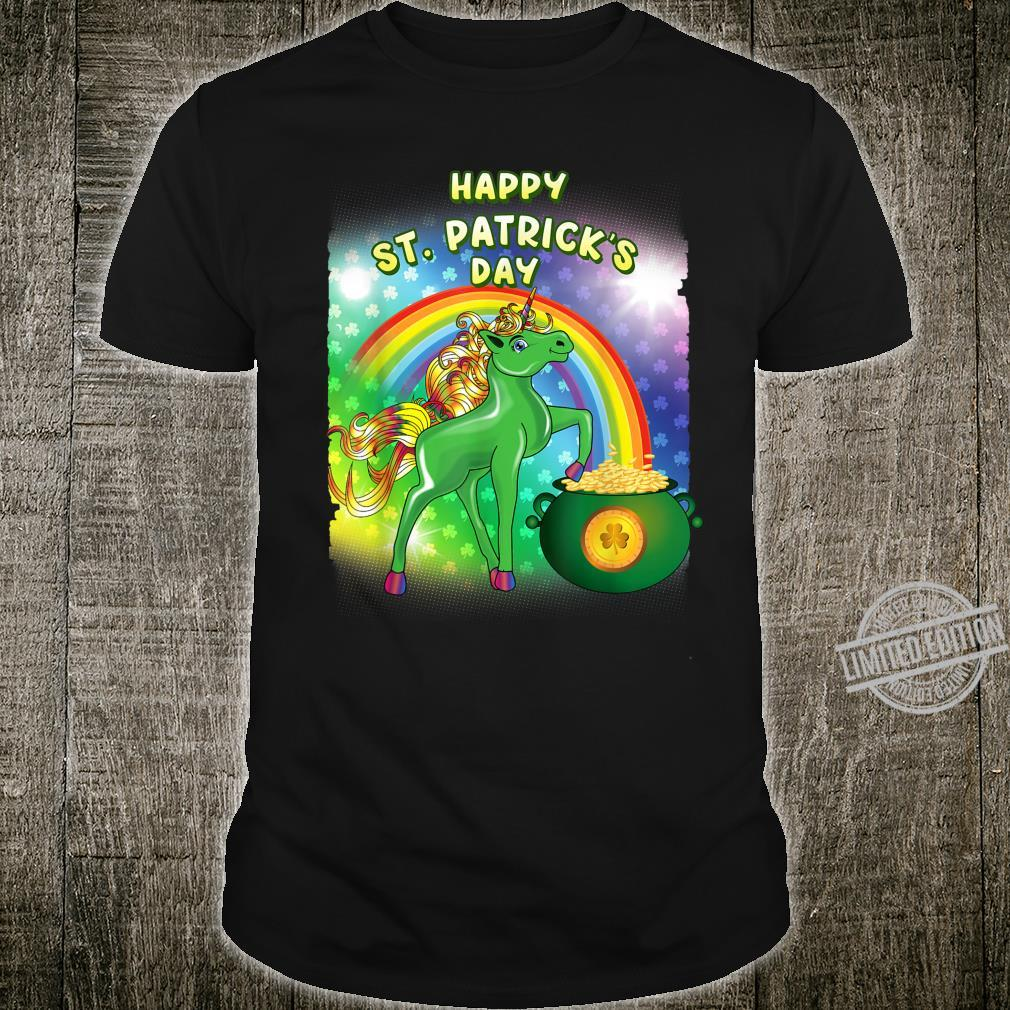 Happy St Patricks Day Rainbow Unicorn Squad Teachers Girls Shirt