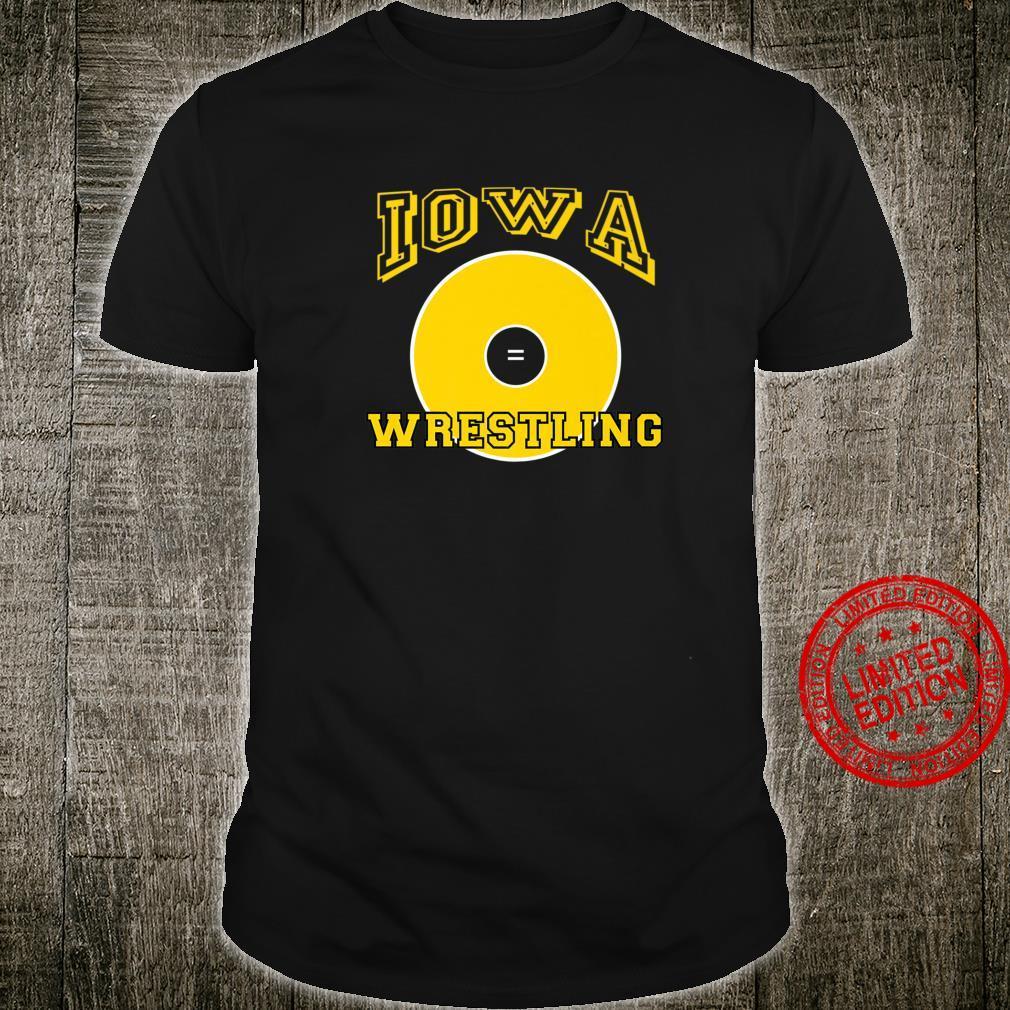 Iowa Wrestling Mat Freestyle Wrestler The Hawkeye State Shirt