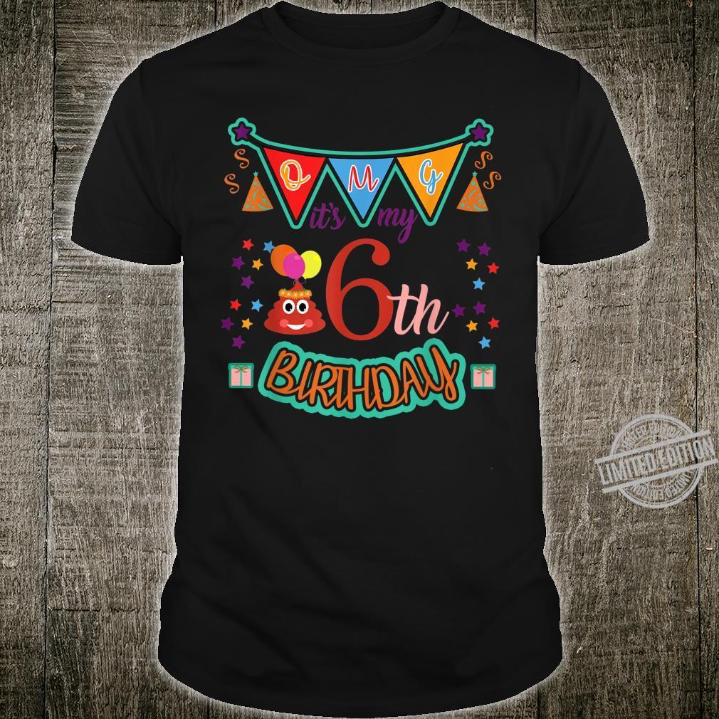 It's my 6th Birthday Poop Emojis 6 year old Shirt