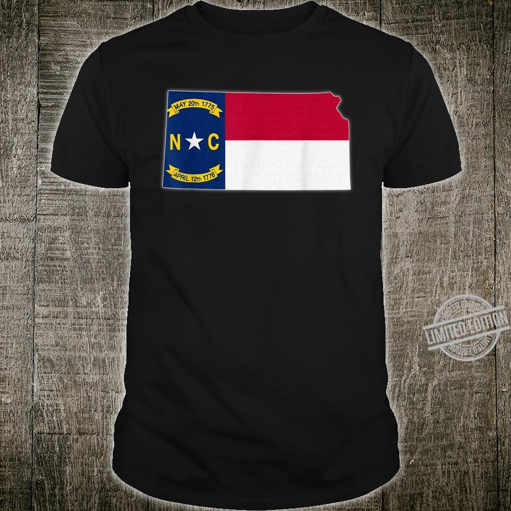 KANSAS STATE MAP NORTH CAROLINA NC Flag Roots Shirt