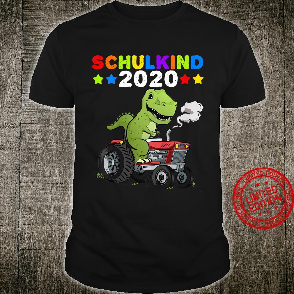 Kinder Schulkind 2020 Geschenk Dino TRex Dinosaurier Einschulung Shirt