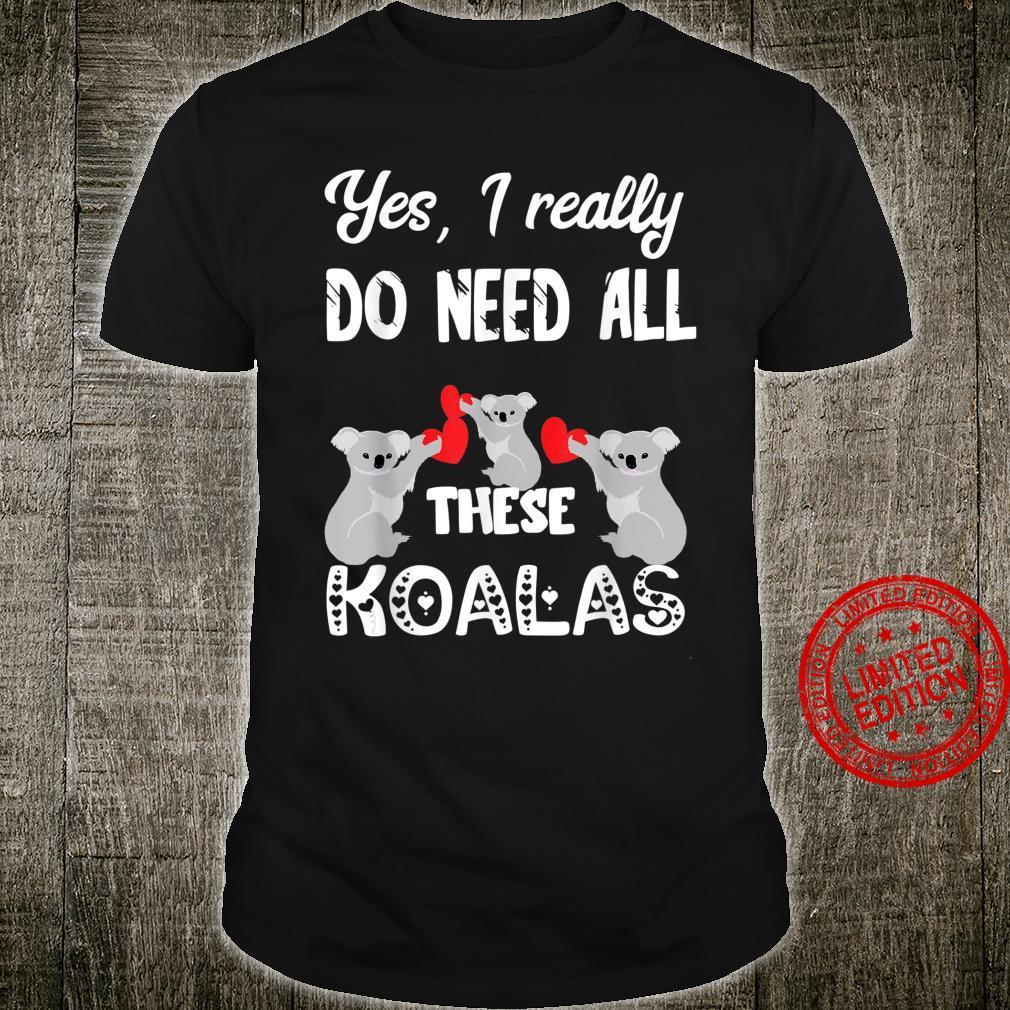 Koala Bären Eukalyptus Koalabären Australien Beuteltier Shirt