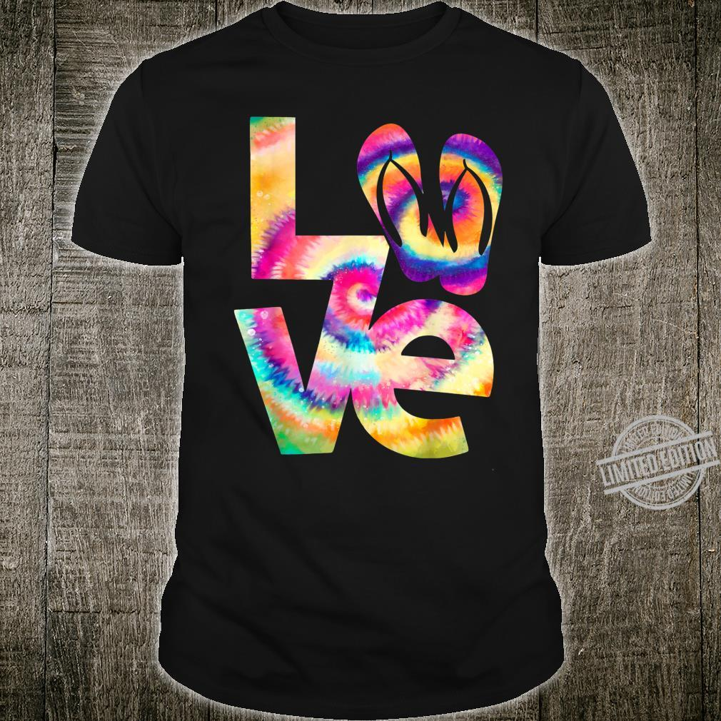 LOVE flip flop Tie Dye Hippies girls Shirt
