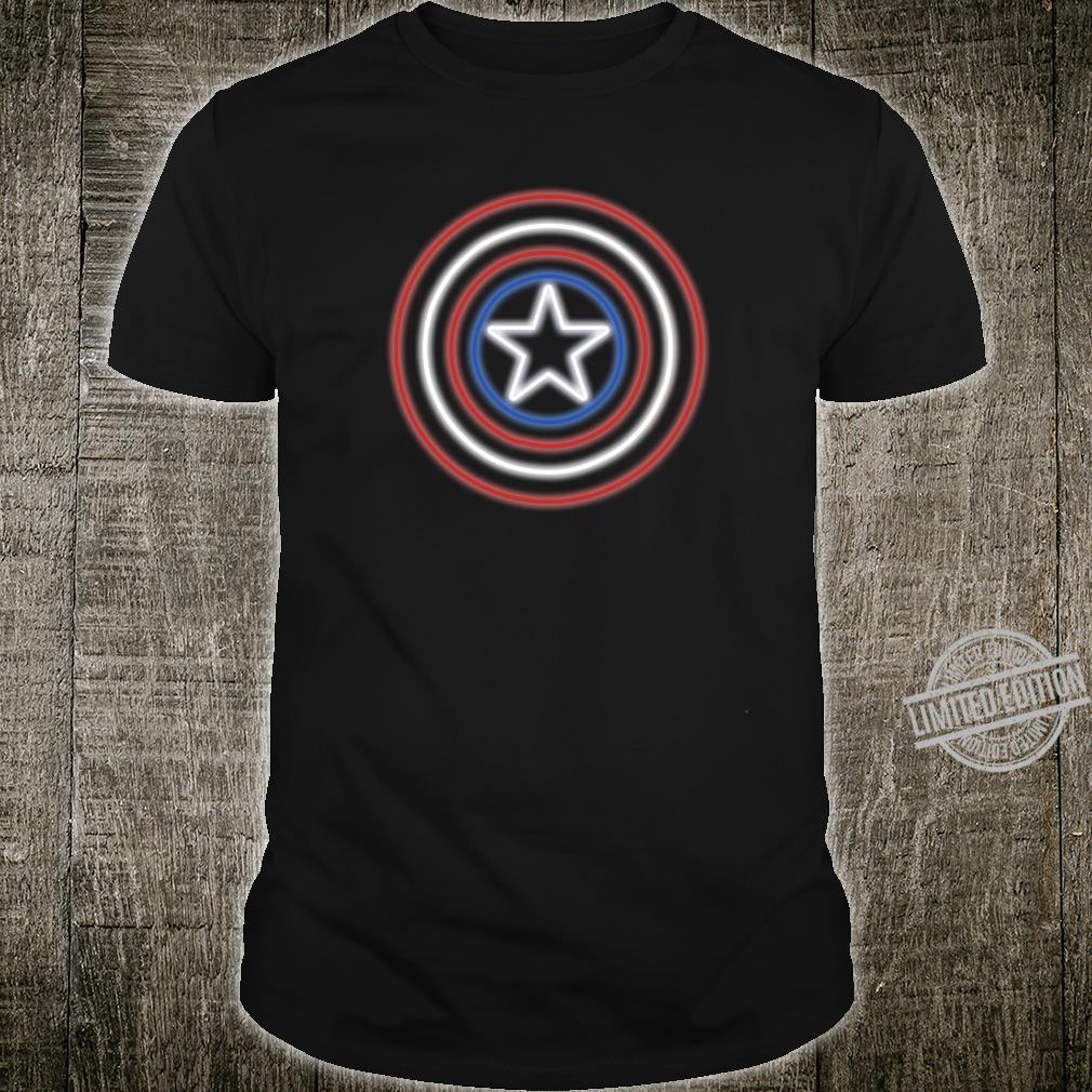 Marvel Captain America Shield Neon Logo Shirt