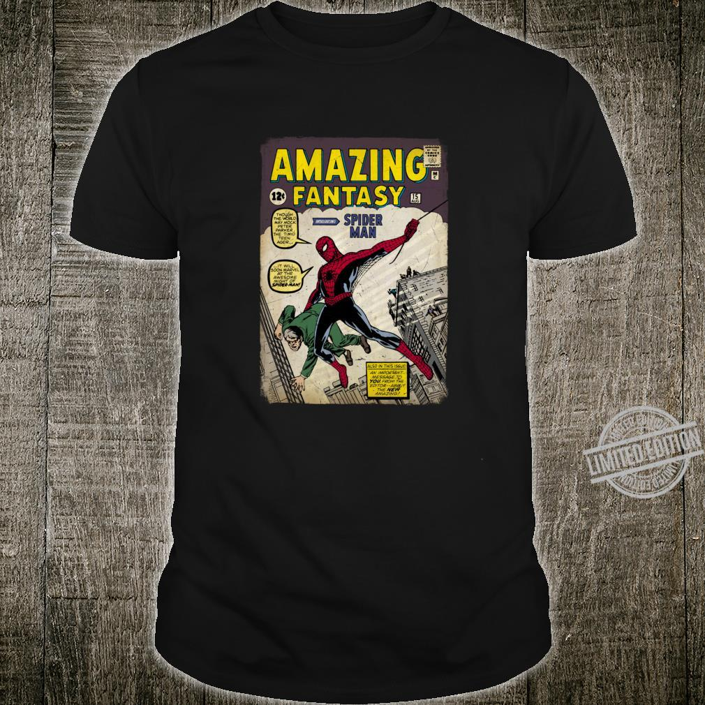 Marvel The Amazing SpiderMan Distressed Comic Cover Shirt