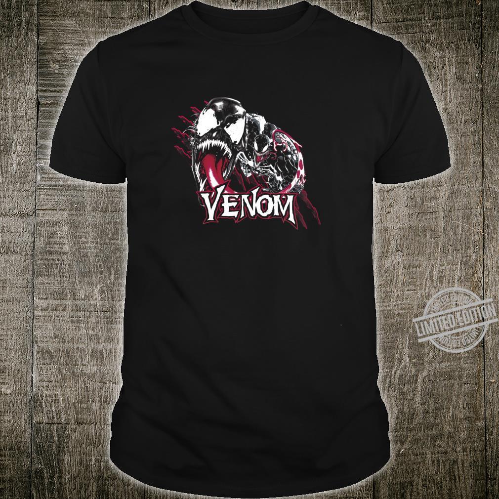 Marvel Venom Slash Marks Name Text Langarmshirt Shirt