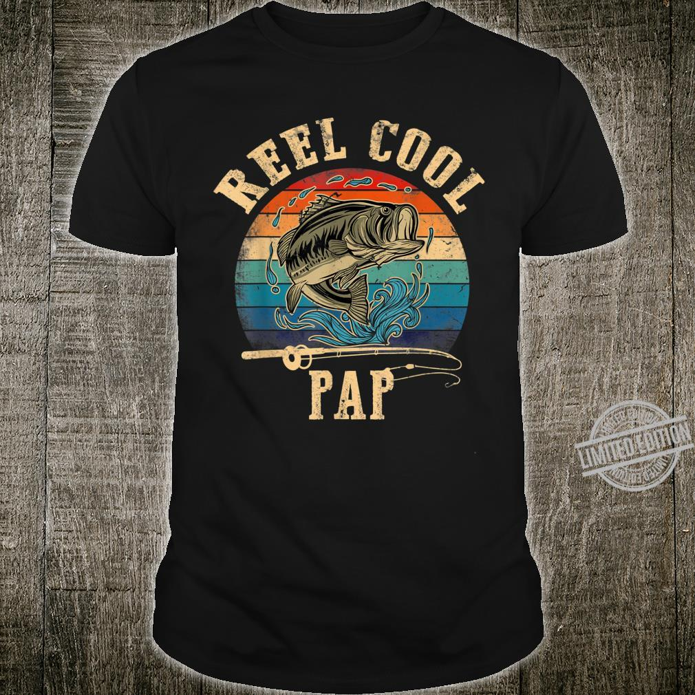 Mens Vintage Reel Cool Pap Fish Fishing Shirt Father's Day Shirt