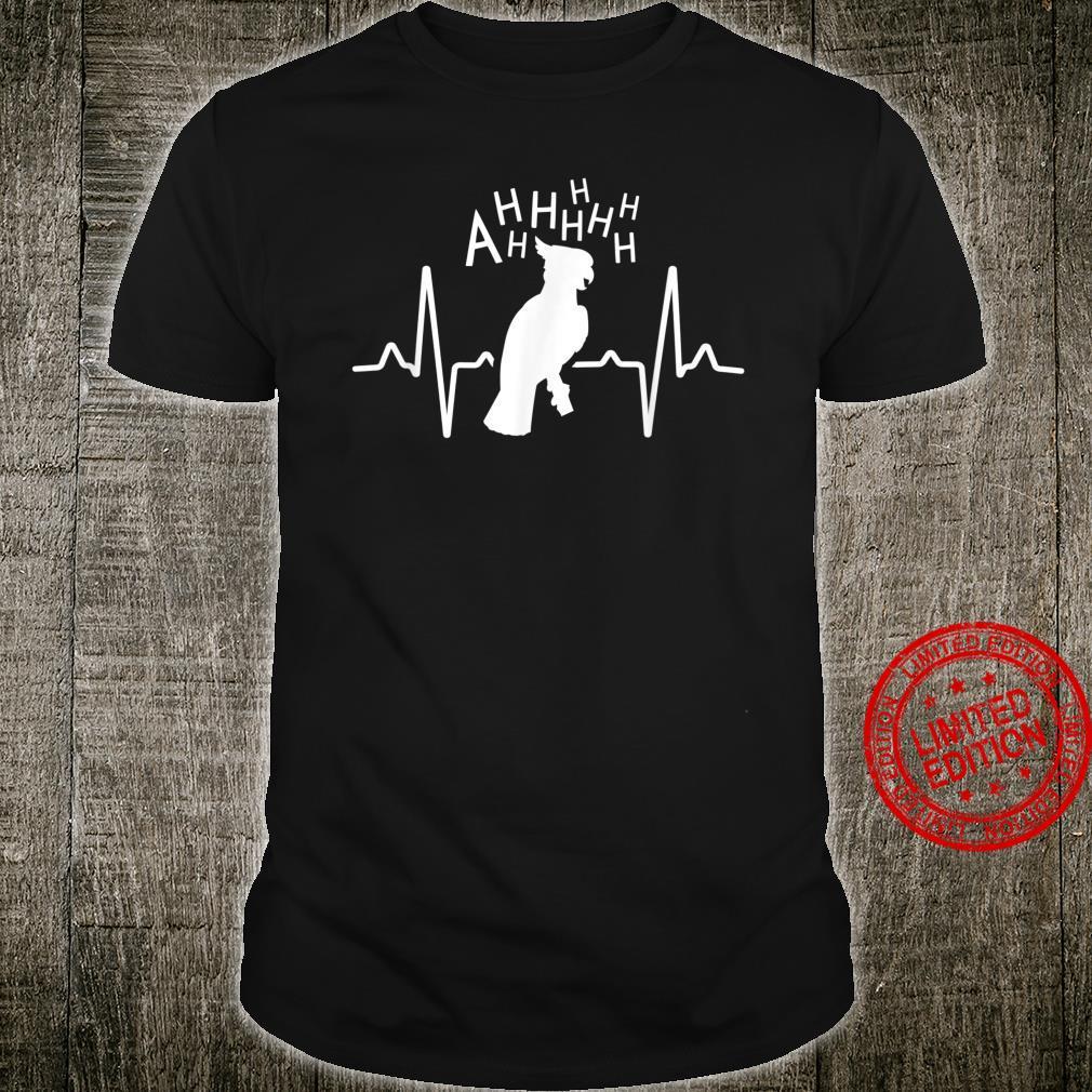 Parrot Shirt Screaming Cockatoo Heartbeat Shirt
