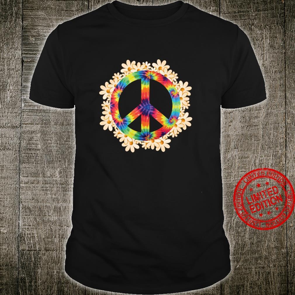 Peace Sign Hippie Daisy Flower TieDye Peace Sign Shirt