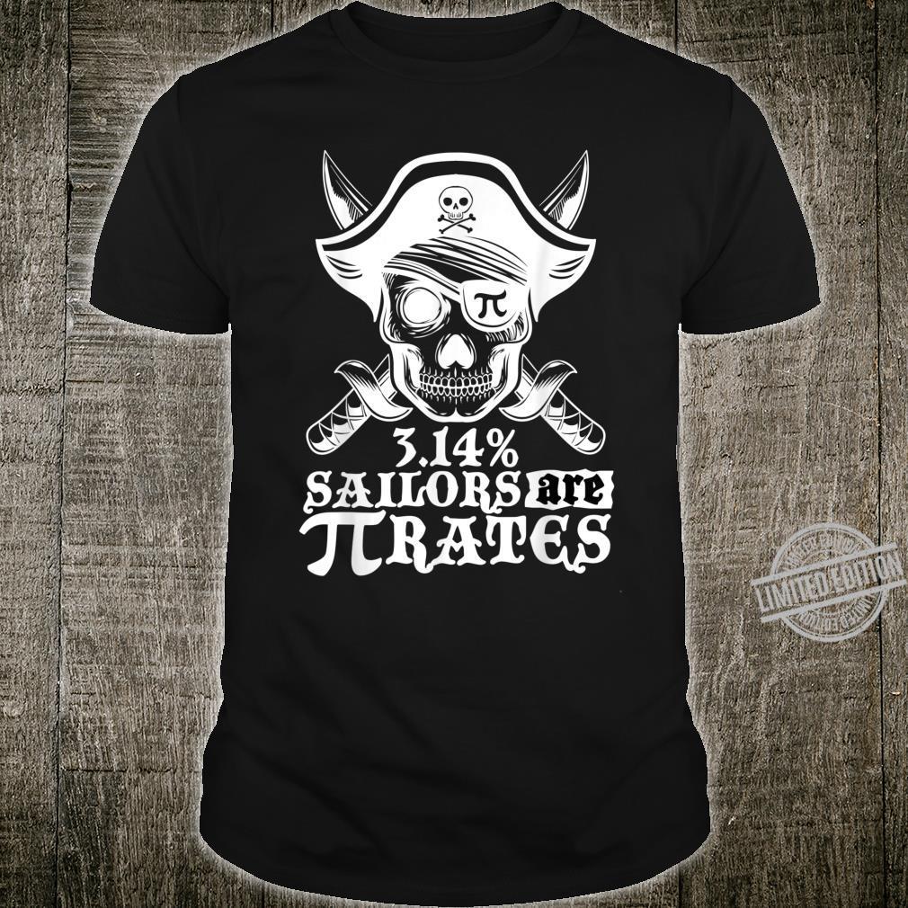 Pi Day Pirate Skeleton Skull for Teachers and Boys Shirt