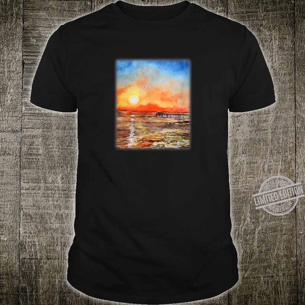 Plymouth Cape Cod Sunrise Beach Scene Shirt