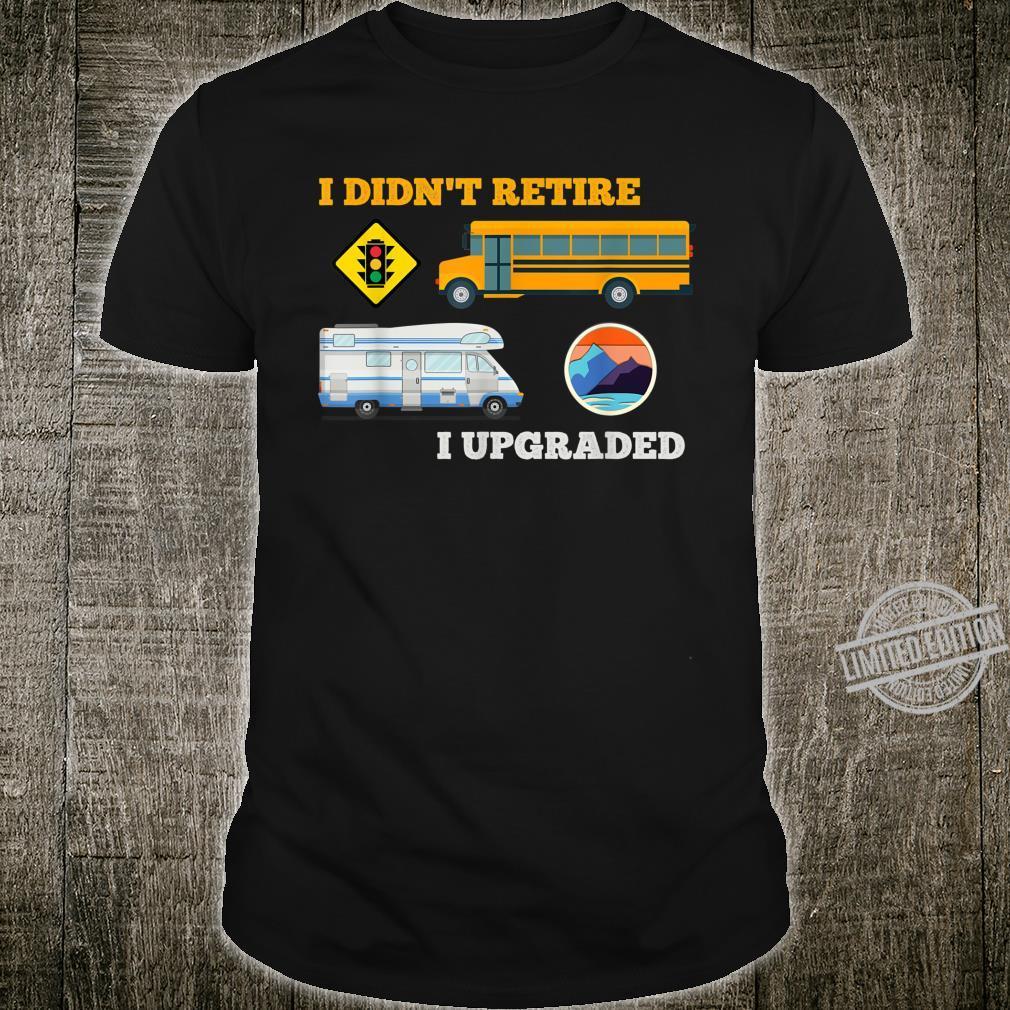 Retire Travel Retirement Vacation Bus Driver Shirt