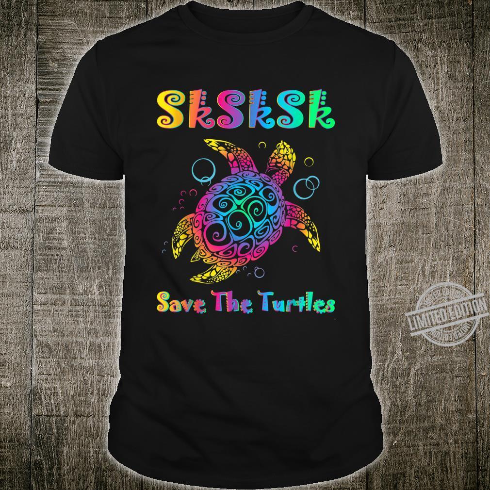 SKSKSK Save The Turtles Meme Rainbow Tie Dye For Visco Girl Shirt