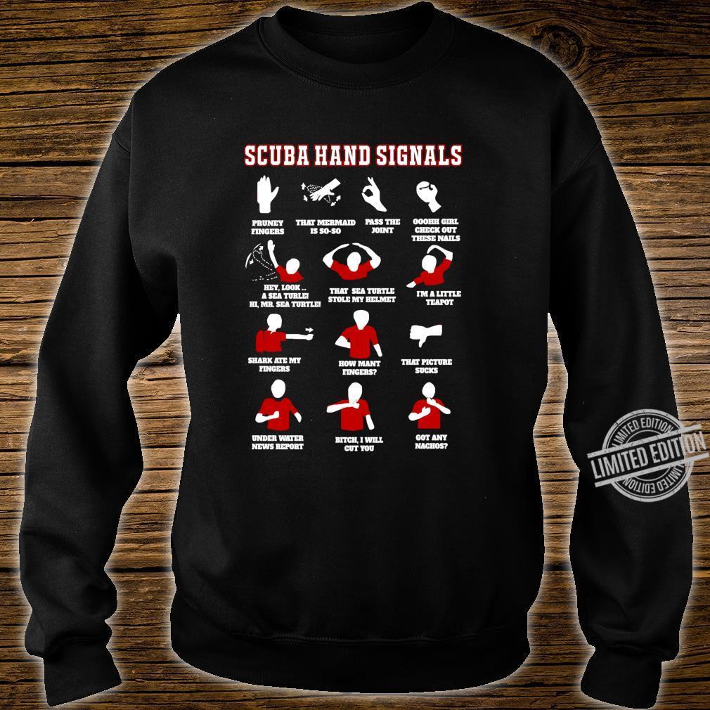 Scuba Diving Scuba Diver Under Water Signs Shirt sweater