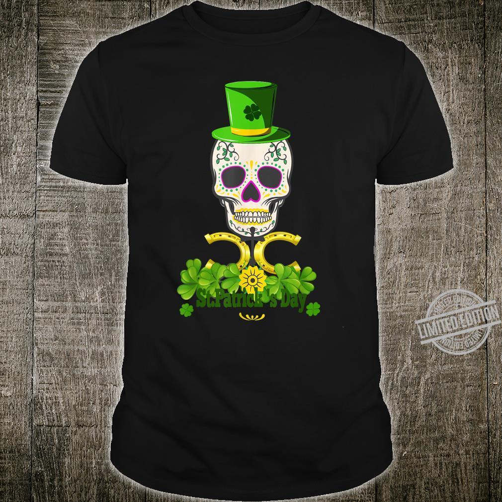 Skull Cloverleaf Horseshoe Cross Cap Shirt