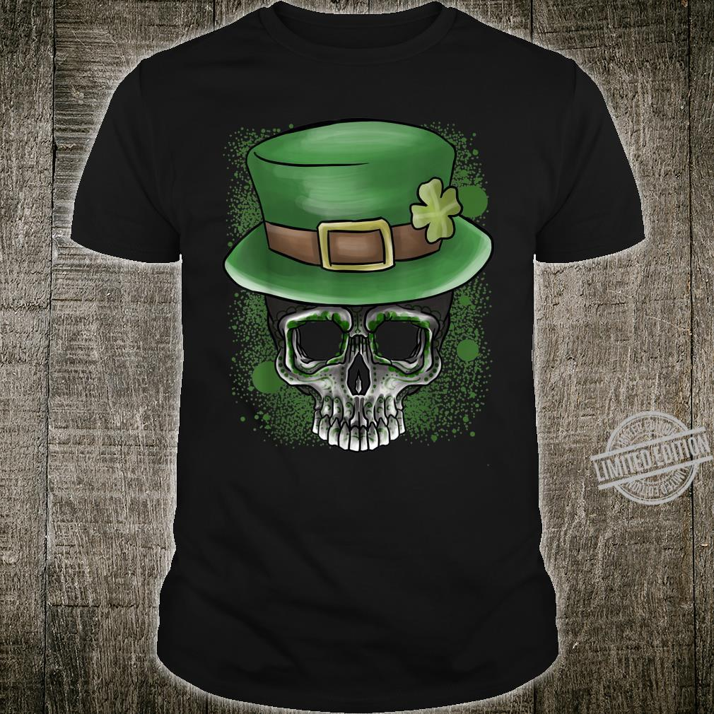 Skull Wearing St.Patrick's Day Hat Shirt