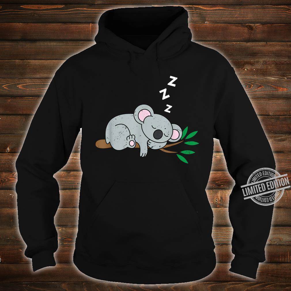 Sleeping Koala Bear Cute Animals Retro Shirt hoodie