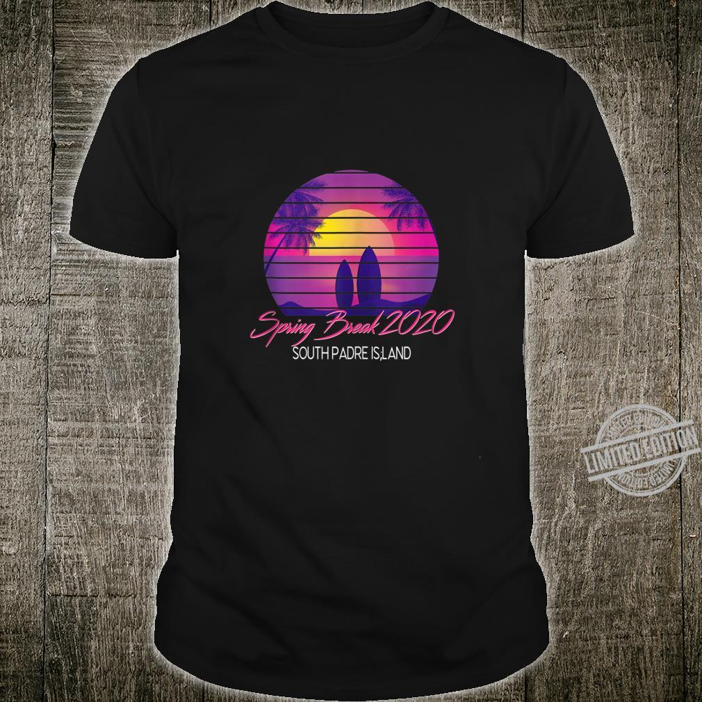 Spring Break 2020 Shirt South Padre Island Vintage 80s Beach Shirt