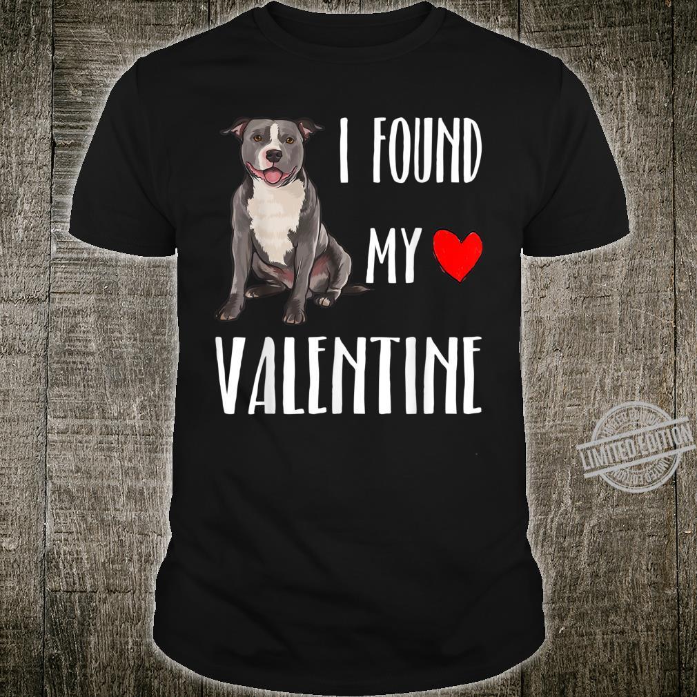 Staffordshire Bullterrier Mein Valentin Valentinstag Shirt