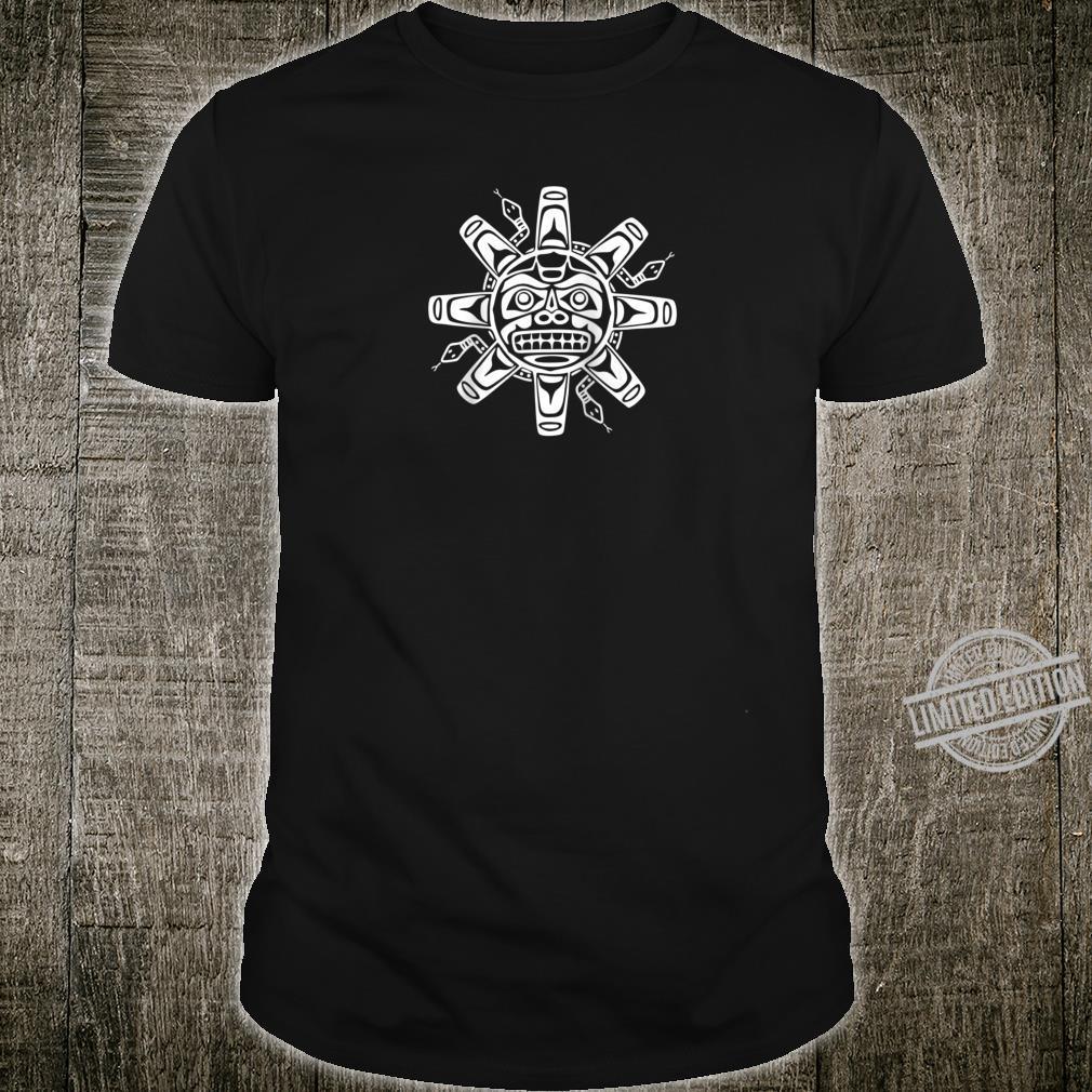 Sun Symbol Abstract Haida Art Pacific Northwest Coast Snakes Shirt