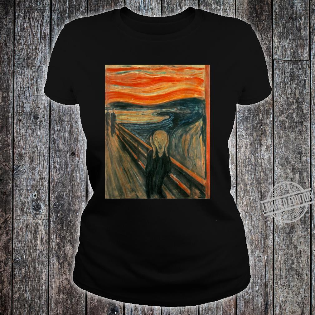 The Scream by Edvard Expressionism Munch Shirt ladies tee