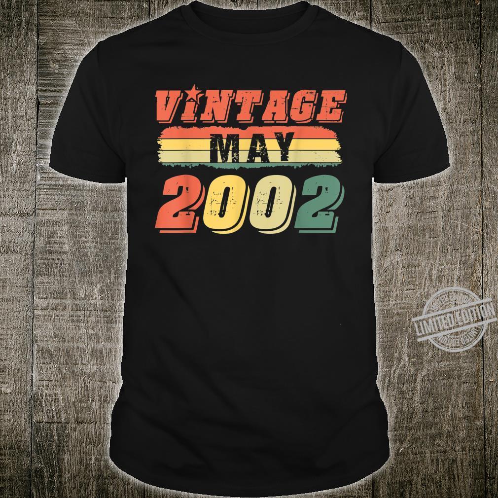 Vintage 18th Birthday Idea Legend Since May 2002 Shirt