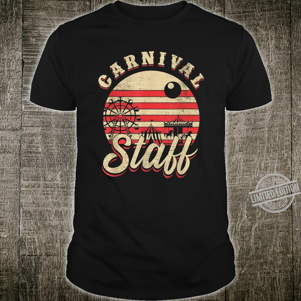 Vintage Carnival Event Staff Worker Birthday Themed Party Shirt
