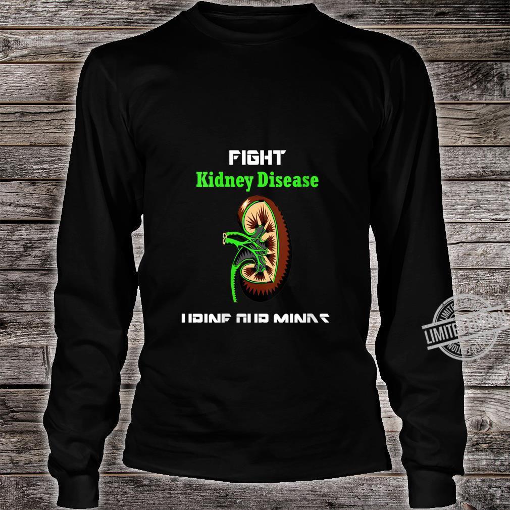 Womens Fight Kidney Disease Shirt Awareness Warrior Kidney Shirt long sleeved