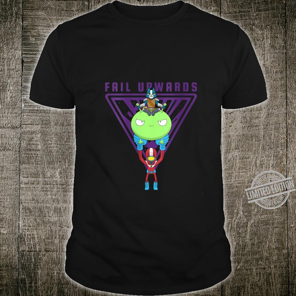Womens Final Space Fail Upwards Avocato and Gary Riding Mooncake Shirt