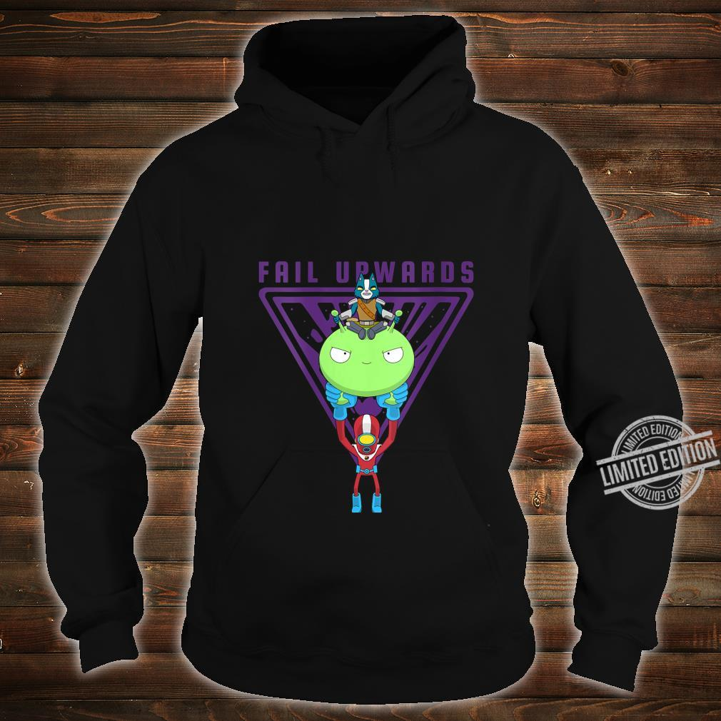 Womens Final Space Fail Upwards Avocato and Gary Riding Mooncake Shirt hoodie