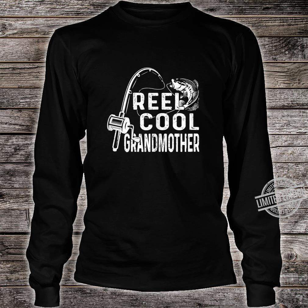 Womens Vintage Reel Cool Granmother Fishing Mom Grandma Mothers Day Shirt long sleeved
