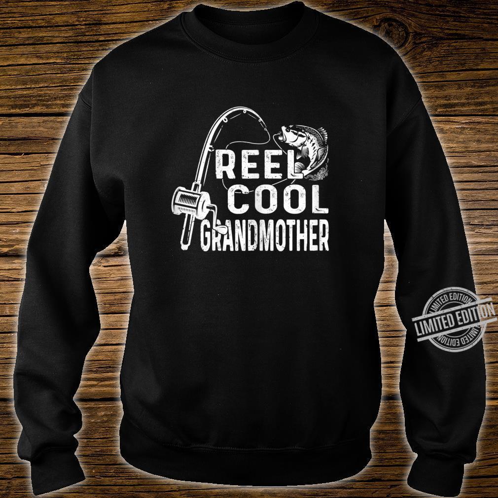 Womens Vintage Reel Cool Granmother Fishing Mom Grandma Mothers Day Shirt sweater