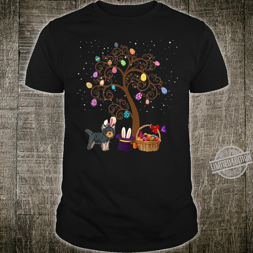 Yorkshire Terrier Dog Hunting Egg Tree Bunny Easter Day Star Shirt